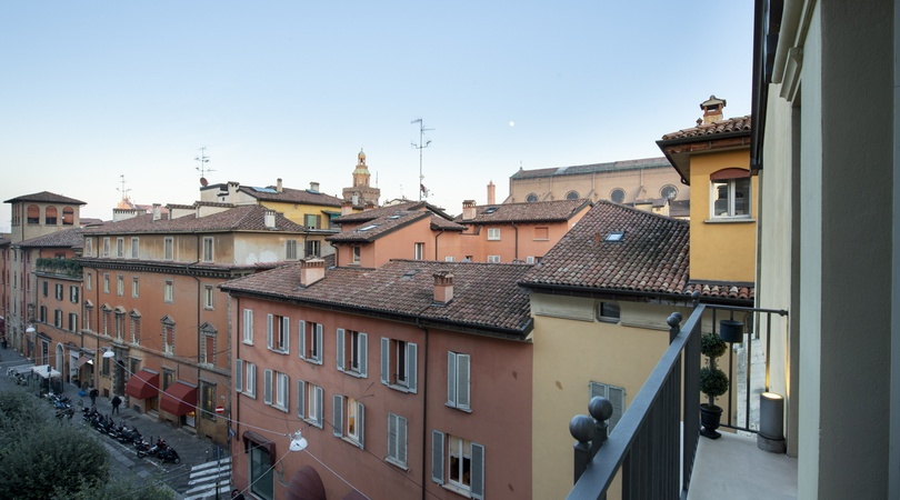 Panoramic view  art hotel novecento bologna