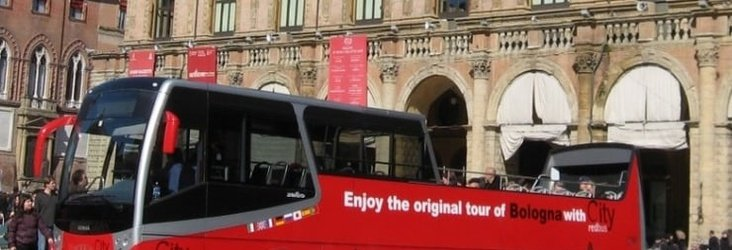 City tour on Red bus  Art Hotel Novecento Bologna, Italy